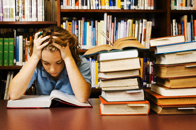 Teenage Student Studying Hard --- Image by ? Randy Faris/Corbis